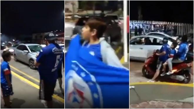 (Vídeo) Aficionados del Cruz Azul salen a las calles a celebrar pese a contingencia