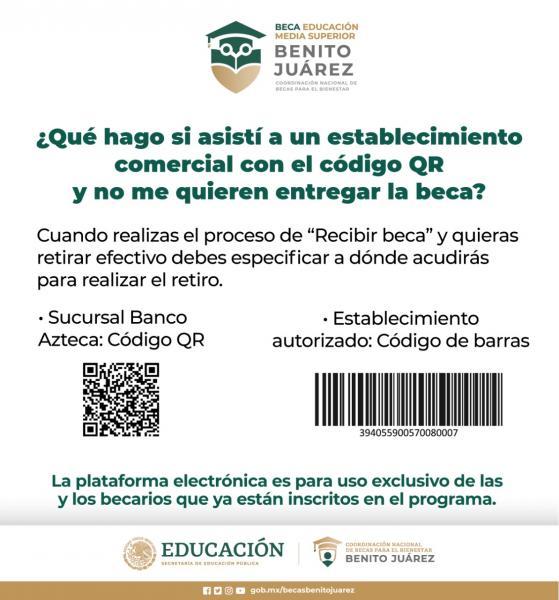 Cobro Bienestar Azteca; Becas para el Bienestar Benito Juárez 2020