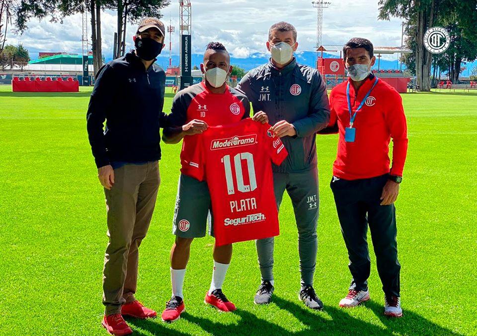 Así presentaron al ecuatoriano Joao Plata en el Toluca FC