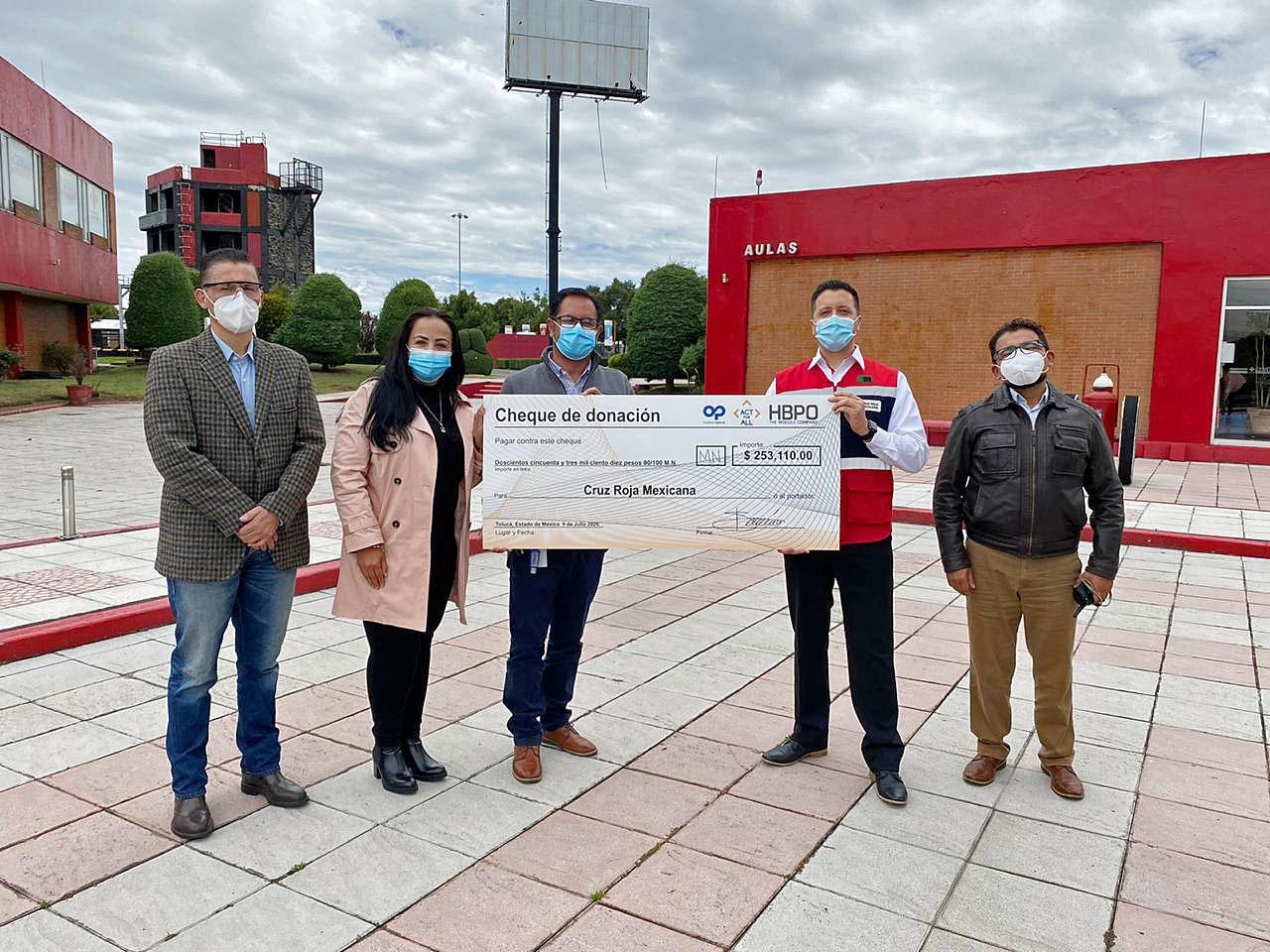 Recibe Cruz Roja Edomex donación en apoyo de la batalla que libra contra COVID-19