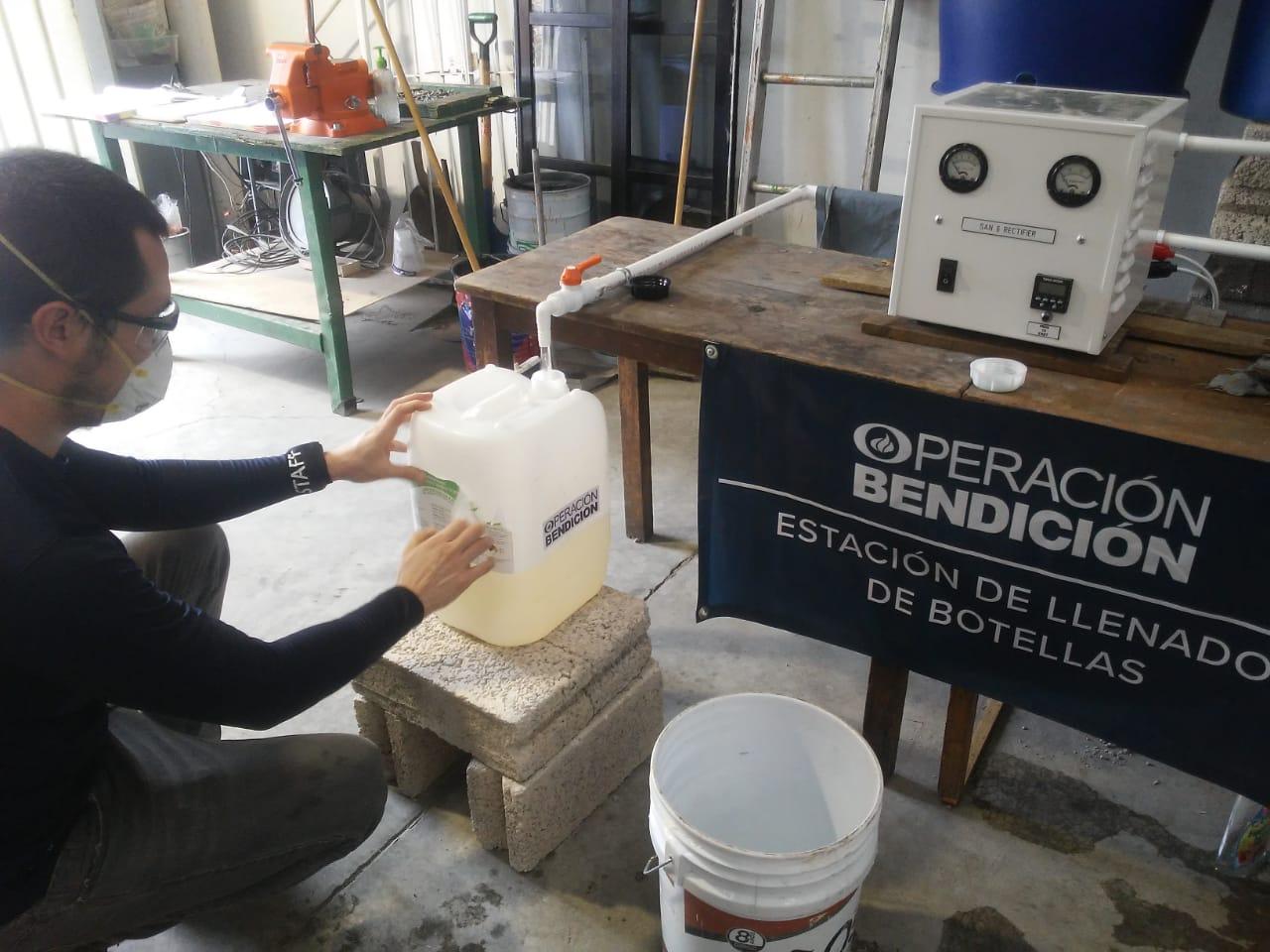 Toluca produce hipoclorito de sodio y dona a hospitales