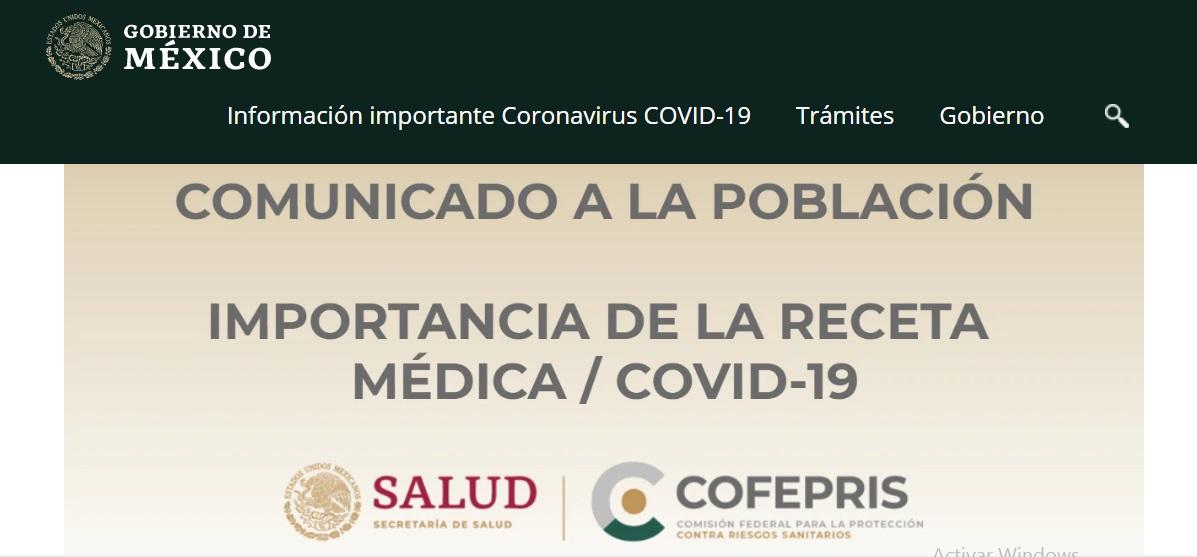 Medicamentos serán vendidos solo con receta por Covid-19