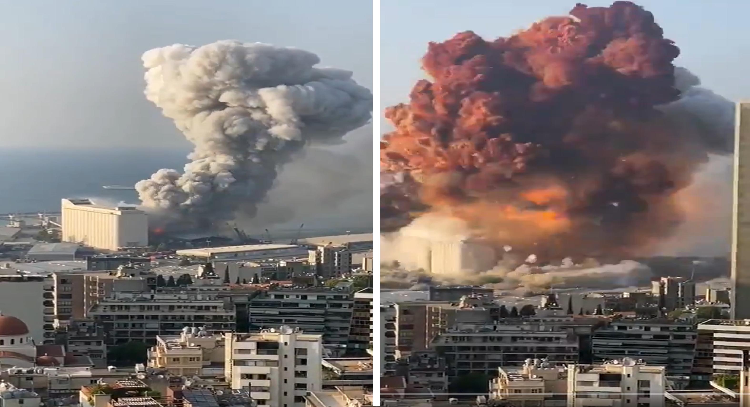 Compilado de videos de la increíble explosión en el Líbano