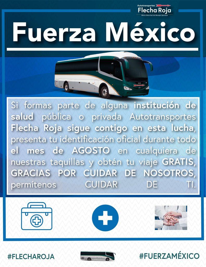 Flecha Roja brindará transporte gratuito a todo el personal de salud