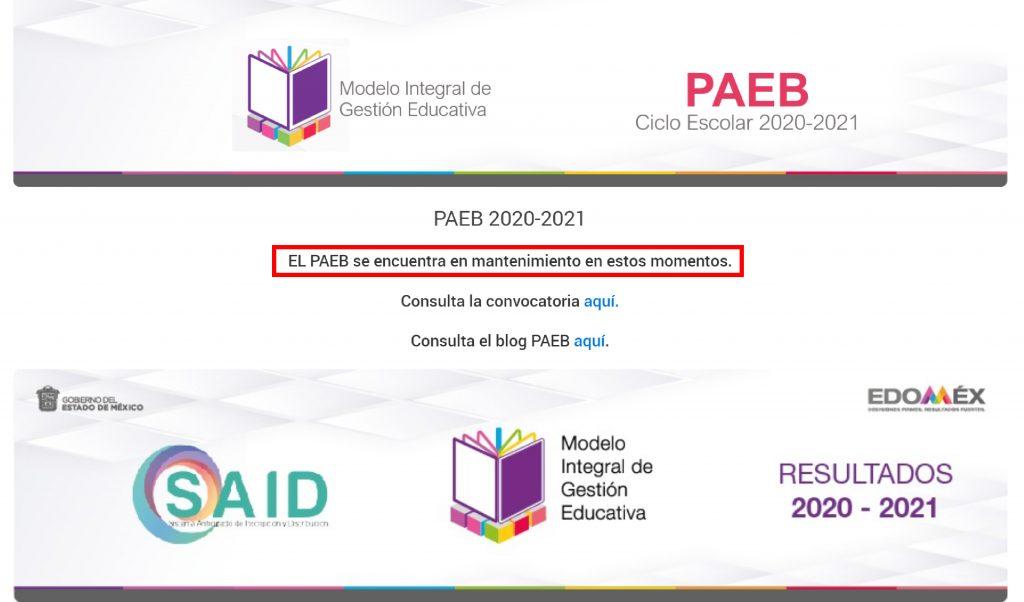 Plataforma PAEB EDOMEX presenta deficiencias y saturación