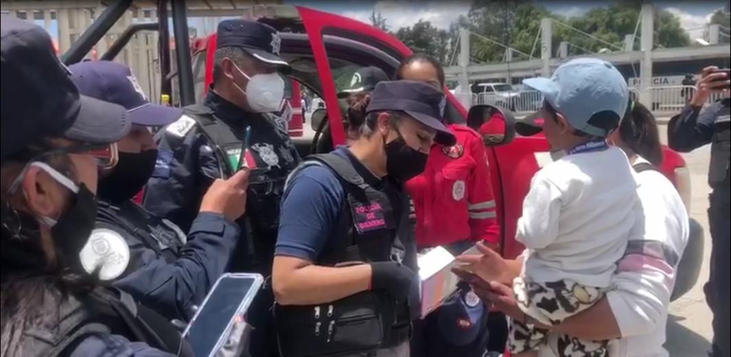 VIDEO   Reúnen a bebé extraviado en Tianguis Aviación con su madre