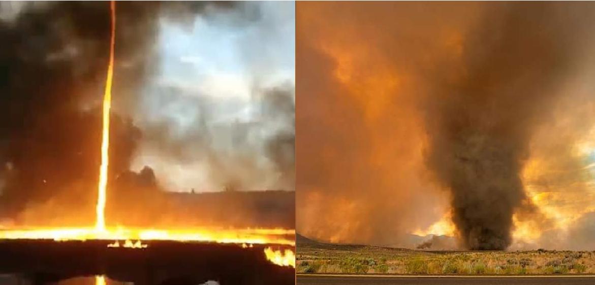 (Video) Así se formaron varios tornados de fuego en California