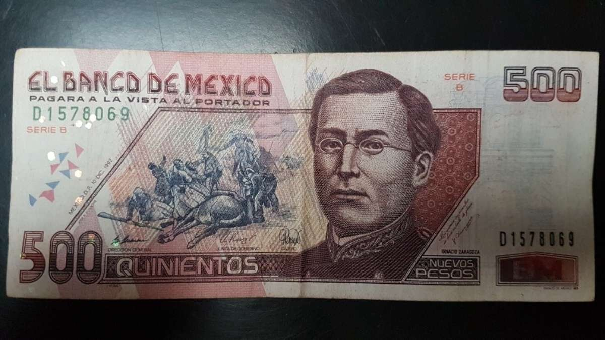 Billete de 500 pesos con el general Ignacio Zaragoza se vende en 2 mil pesos