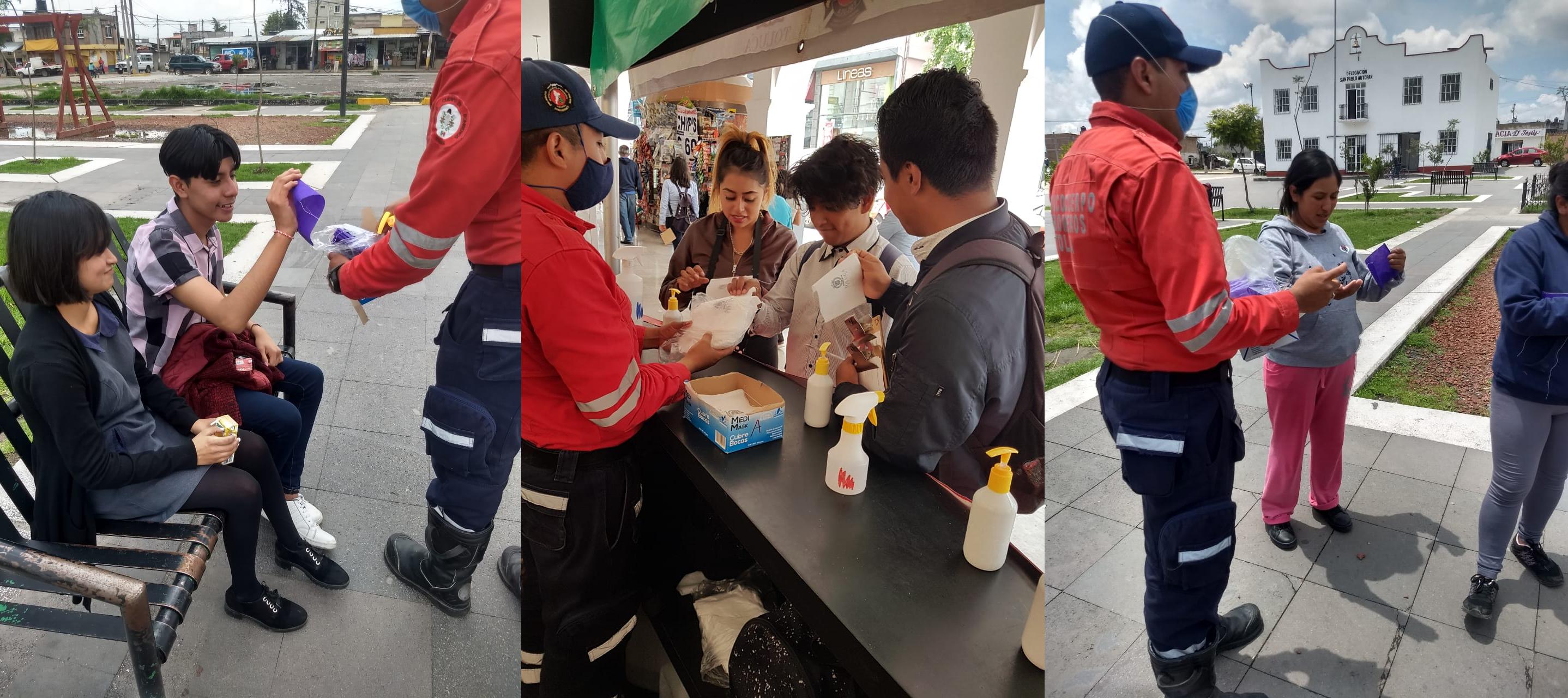 Administración de Toluca entrega medio millón de cubrebocas