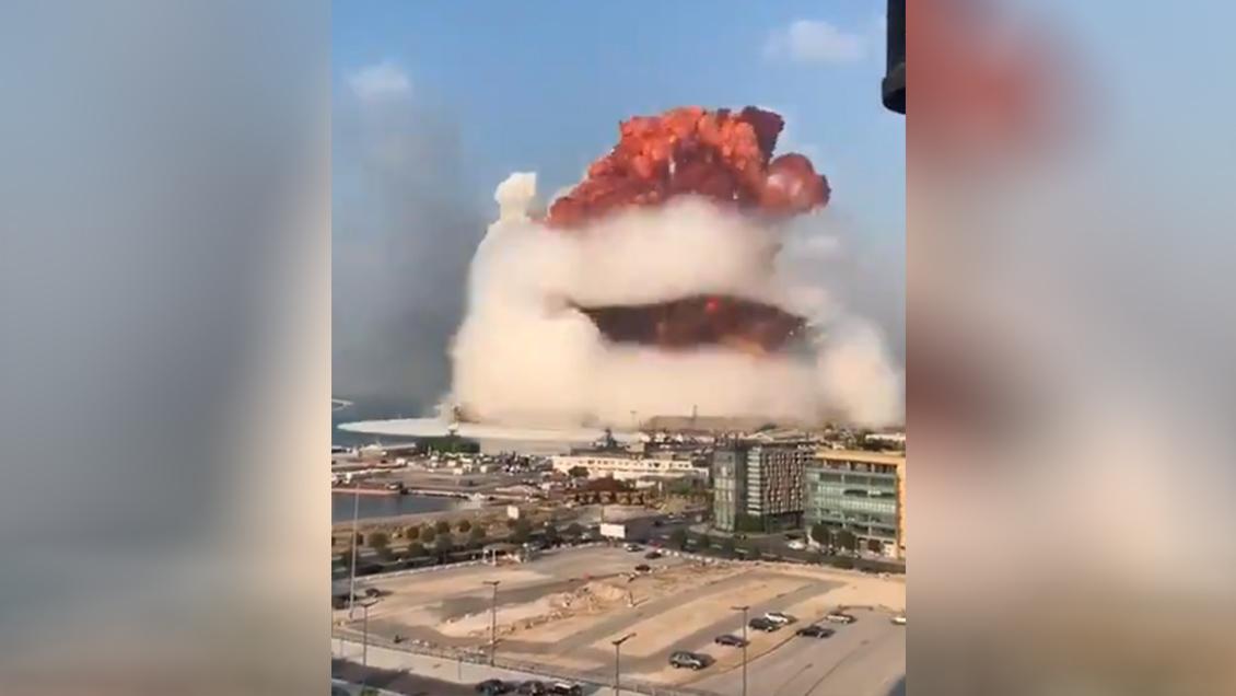 Mega explosión Beirut, Libano