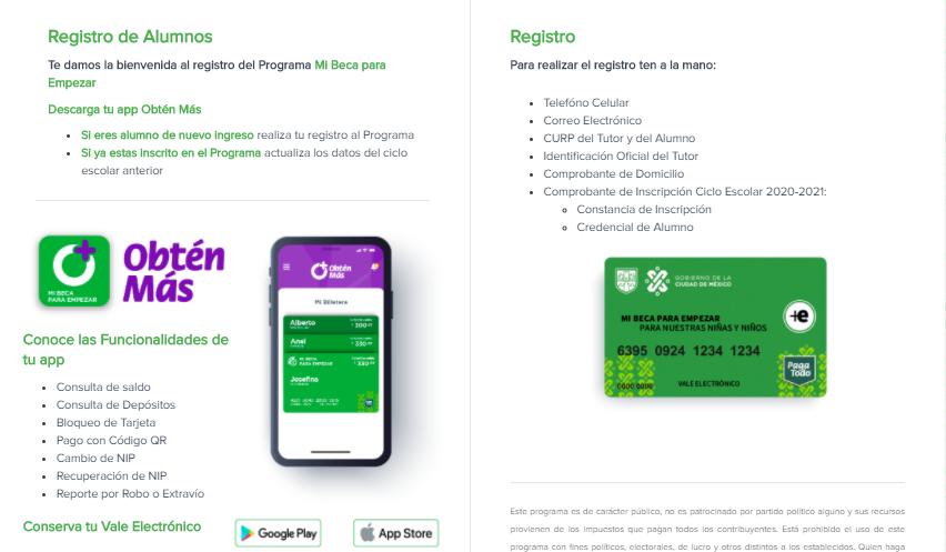 """Registro, actualización de datos, requisitos, dudas y app para """"Mi Beca para Empezar"""""""