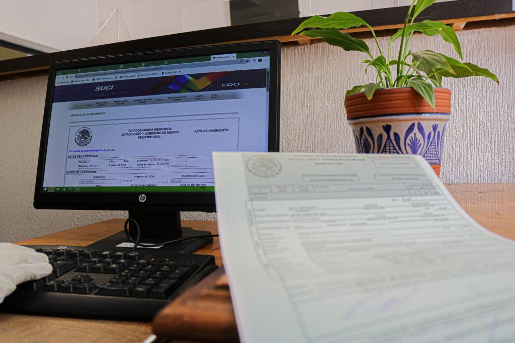 La correciónde los datos deun acta de nacimiento se puede hacer en línea