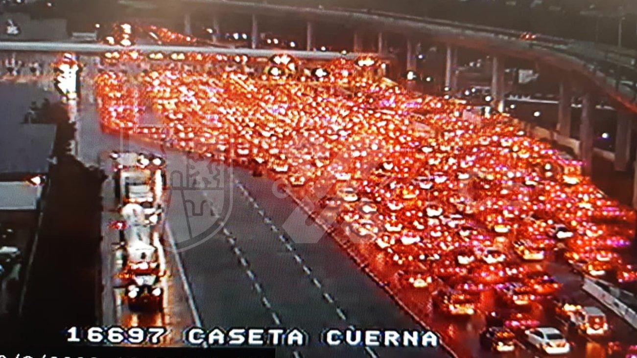 saturan-autopista-mexico-cuernavaca-pese-a-coronavirus