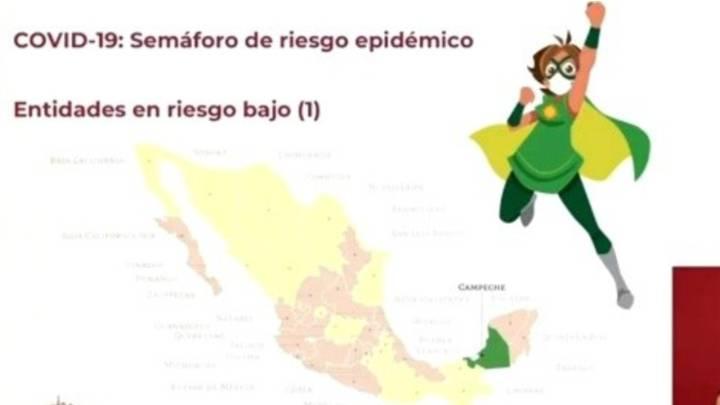 En la Conferencia de prensa del día de ayer, López Gatell anunció que 16 estados podrían pasar a semáforo verde muy pronto.