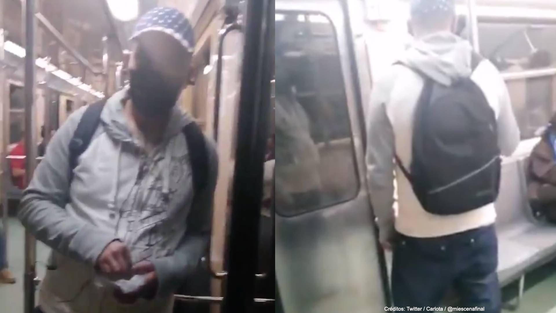 Graban-a-un-acosador-en-el-vagon-del-metro