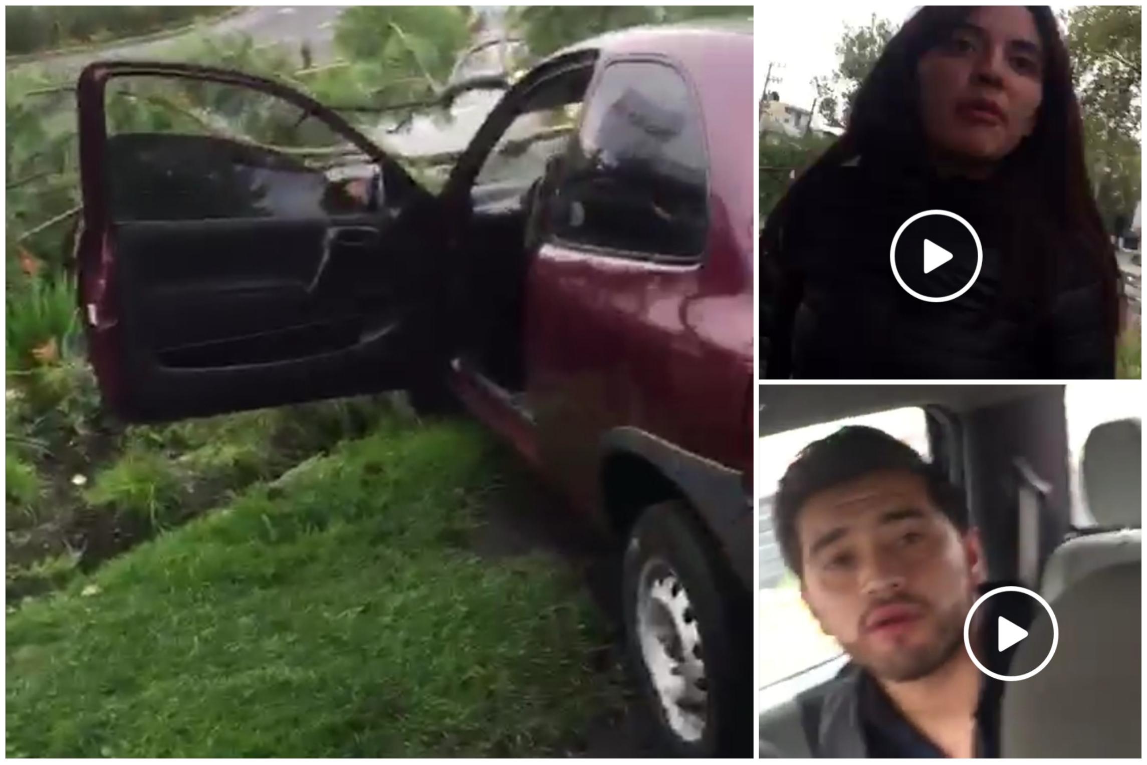 Ayer por la mañana un automovilista presuntamente ebrio casi arrolla a un ciclista y termina chocando su auto por exceso de velocidad.