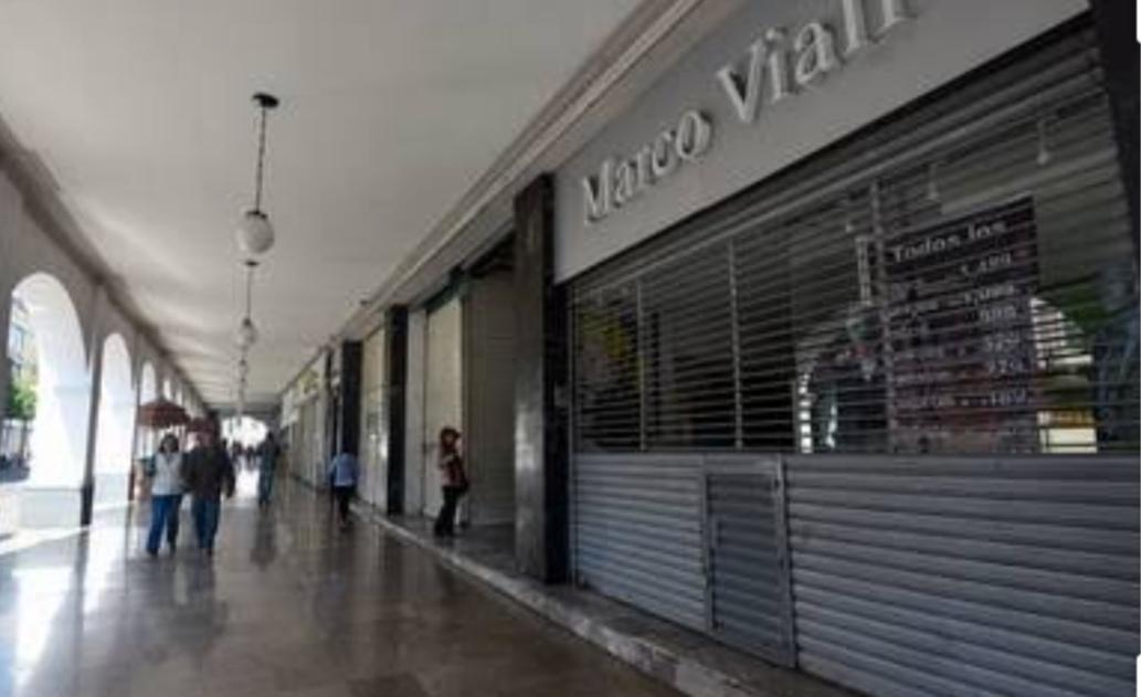 Por pandemia, 15% de los negocios del centro histórico no pudieron soportar las ventas extremadamente bajas y ahora cierran sus puertas.