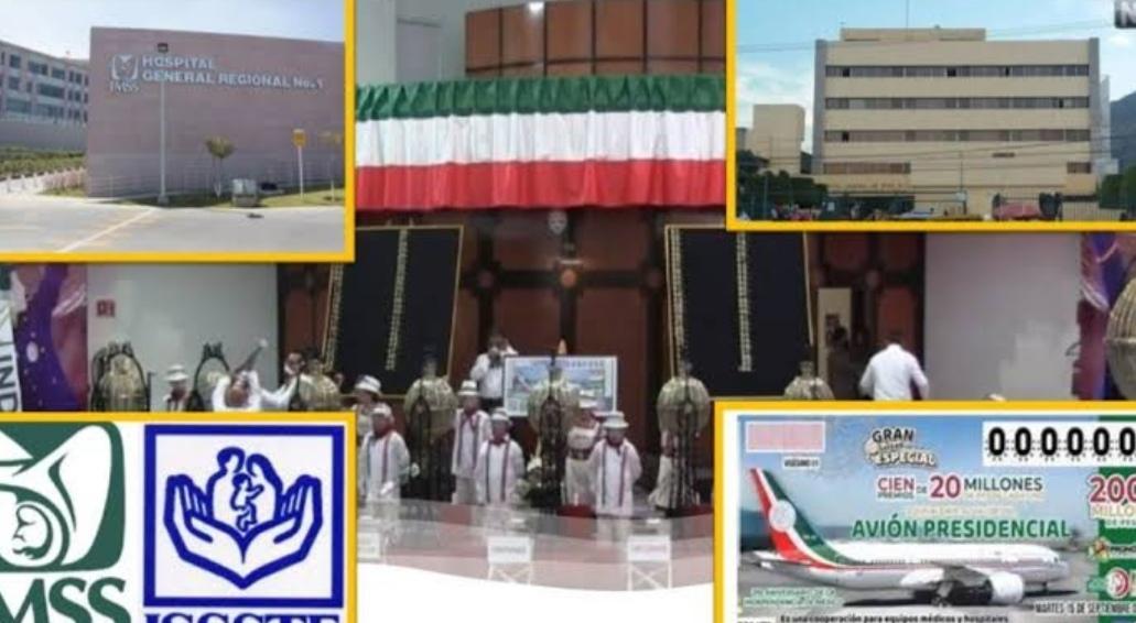 Un total de 8 hospitales fueron beneficiarios de 20 millones de pesos en rifa de avión presidencial.
