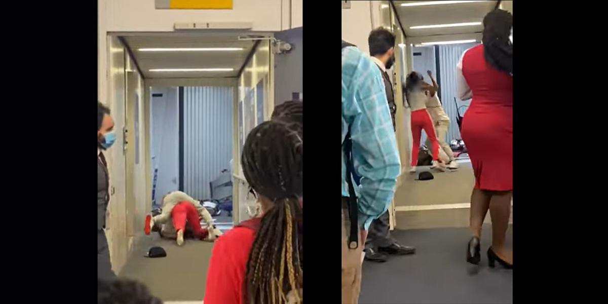 (VIDEO) Pasajeras se agarran a golpes antes abordar su vuelo en Nueva York