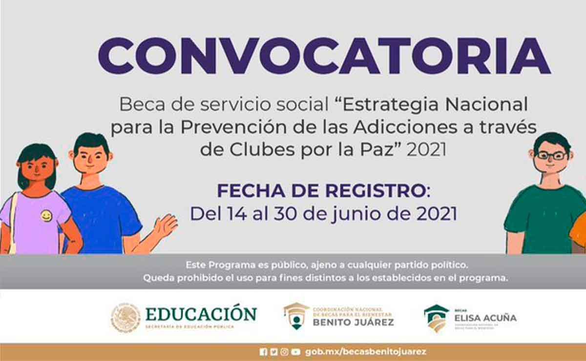 Beca Promotores de Clubes por la paz participa convocatoria 2021.