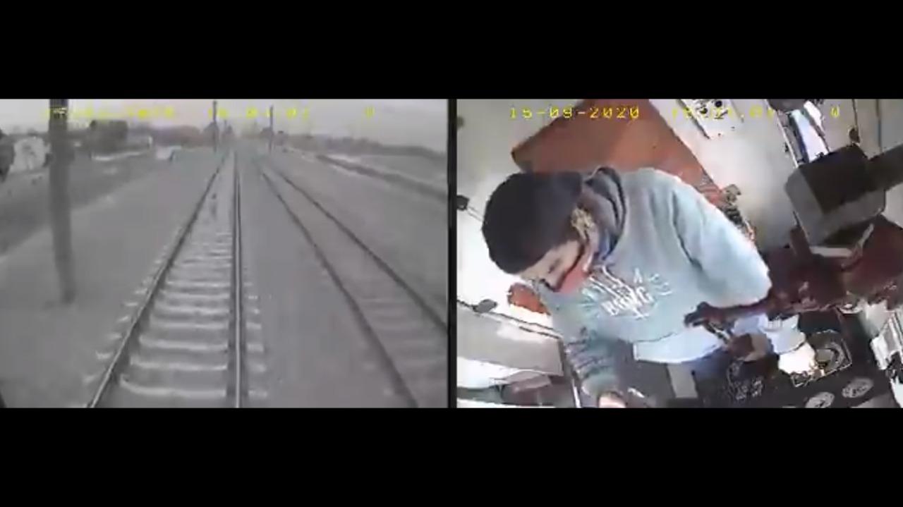 (VIDEO) Menor de edad se salva de ser arrollado por un tren
