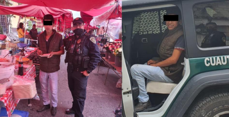 policias lo salvan y lo invitan a desayunar