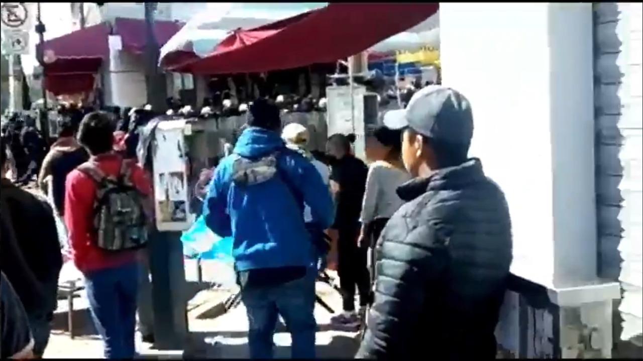 (VIDEO) Enfrentamiento en la Terminal de Toluca