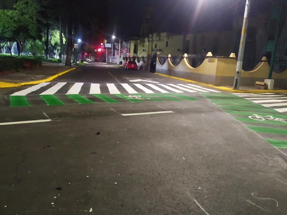 Avenida de Toluca es intervenida para beneficio de los ciclistas    FOTOGALERÍA