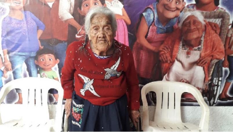 """Ella es la verdadera """"Mamá Coco"""" con 107 años de edad"""