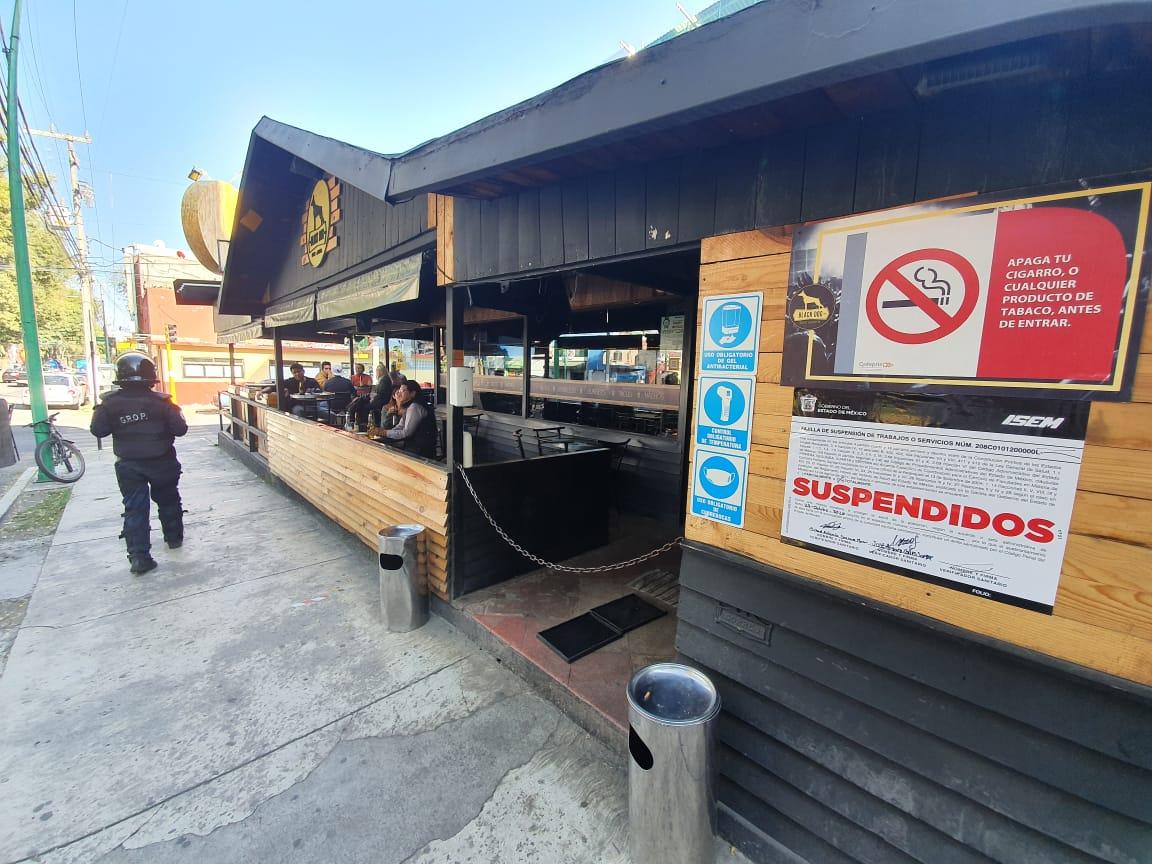 Suspenden-restaurantes-bar-en-Toluca-por-rebasar-aforo