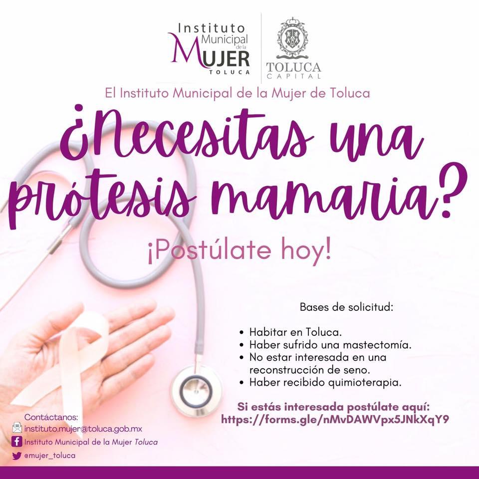 Último día inscribirte y poder recibir prótesis mamaria en Toluca