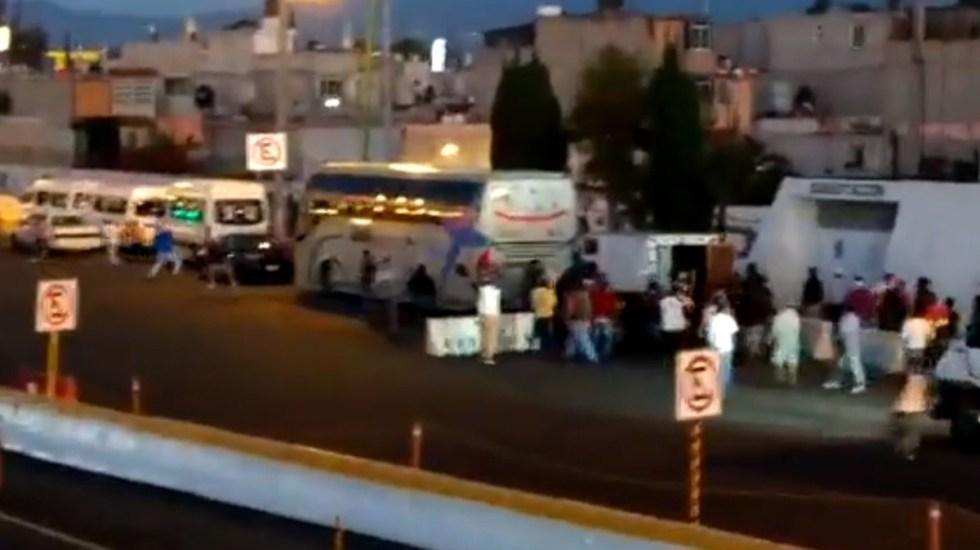 VIDEO   Se registra enfrentamiento a balazos en caseta México – Pirámides.