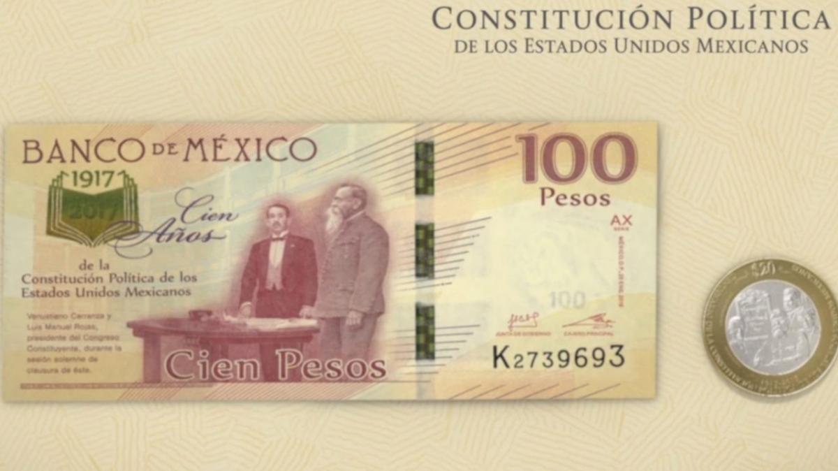 Billete de 100 conmemorativo de la Constitución Mexicana aumenta su valor