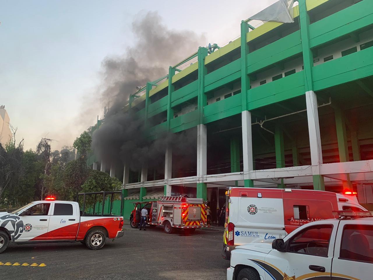 (Video) Incendio el comedor del Estadio León y es capturado