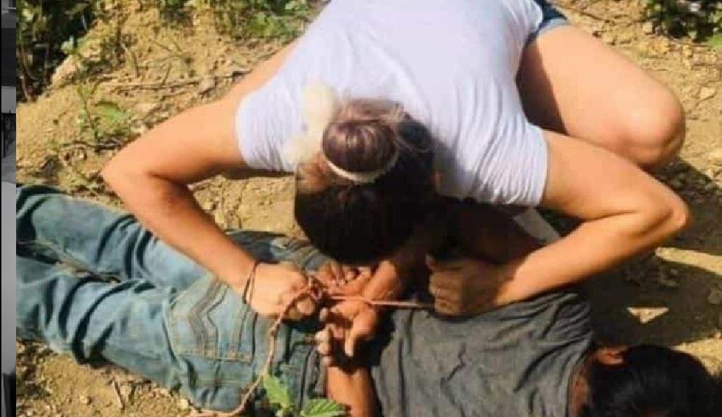 Mujer sometió y amarro a supuesto violador de un menor