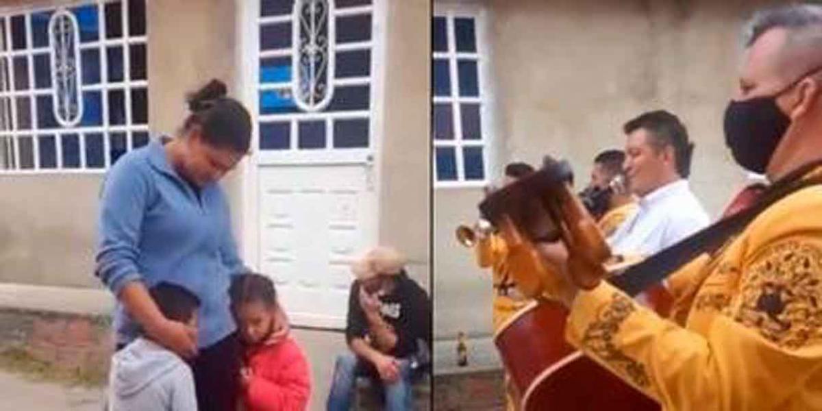 Video: Niño ofrece 5 pesos y canicas a mariachis para que le canten a su mamá