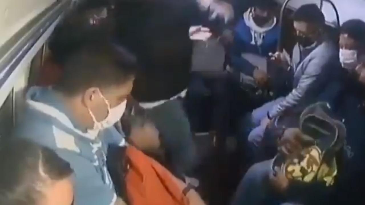 Video || Combi es asaltada en la México-Puebla