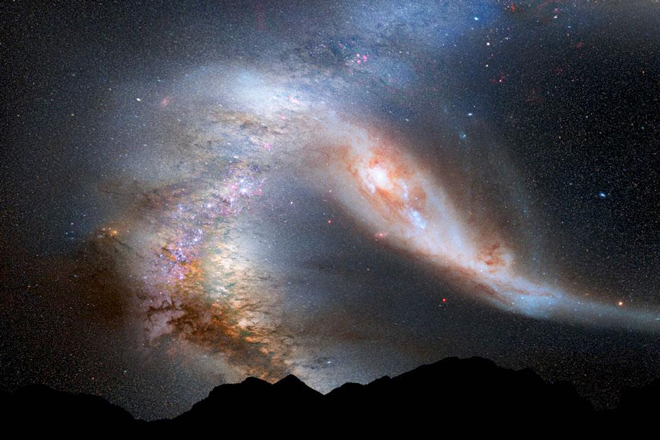 Así se observaría el impacto entre Andrómeda y la Vía Láctea || FOTOGALERÍA-VIDEO