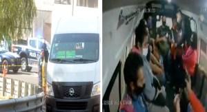Delincuente asalta combi y amenaza manosear a pasajera