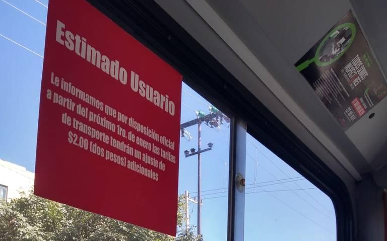Transporte público del Valle de Toluca advierte aumento para el próximo año