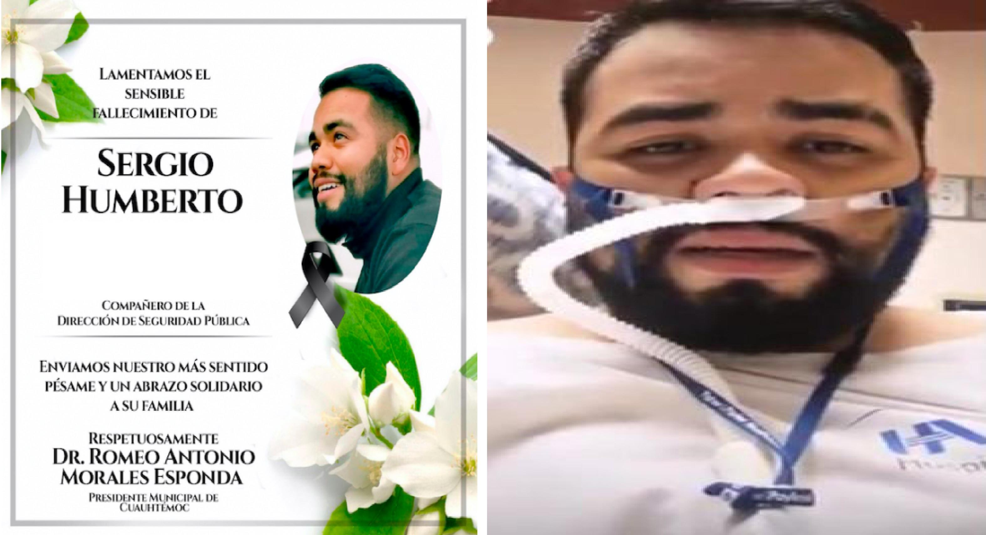 Últimas palabras de un enfermero antes de ser intubado y morir por COVID-19    VIDEO