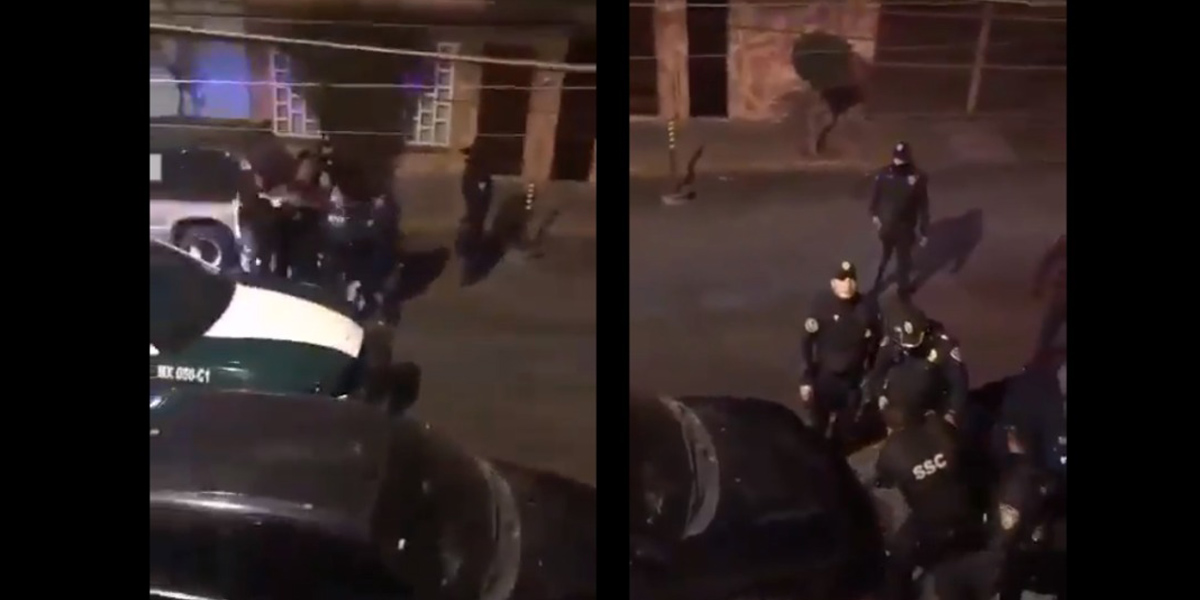 Policías golpean a un hombre en la CDMX (Video)