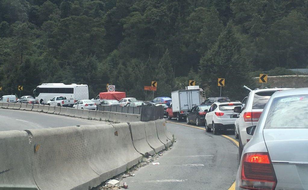 Hoy dan inicio los cierres de la carretera México-Toluca