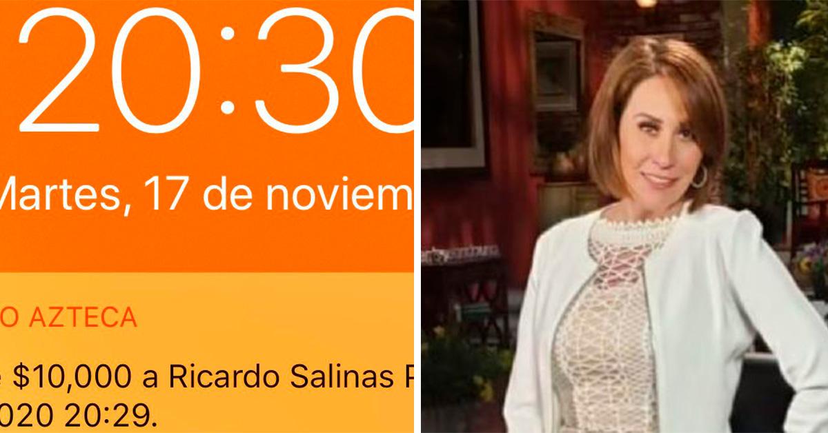 Ricardo Salinas sigue regalando dinero, ahora le tocó a Mónica Castañeda