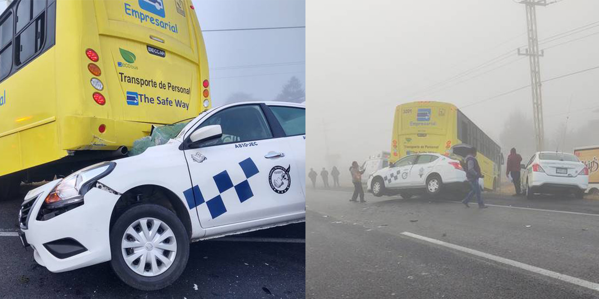 En la carretera Toluca-Atlacomulco un accidente dejó varias personas lesionadas