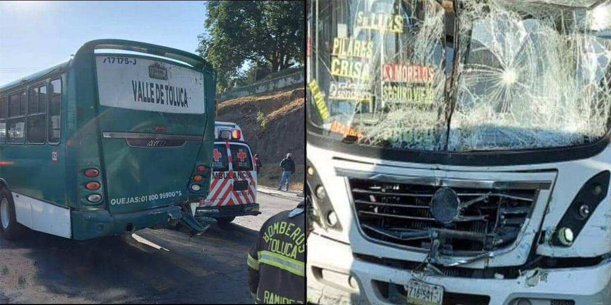 Choque entre autobuses en CU deja doce lesionados