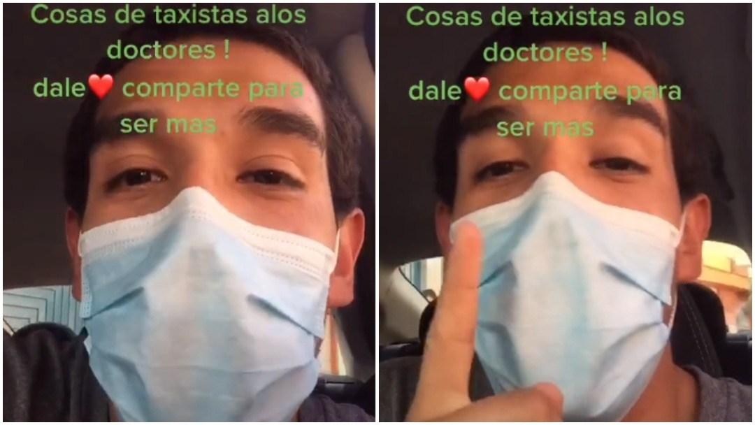 Taxista se vuelve viral tras no cobrar el viaje a un médico