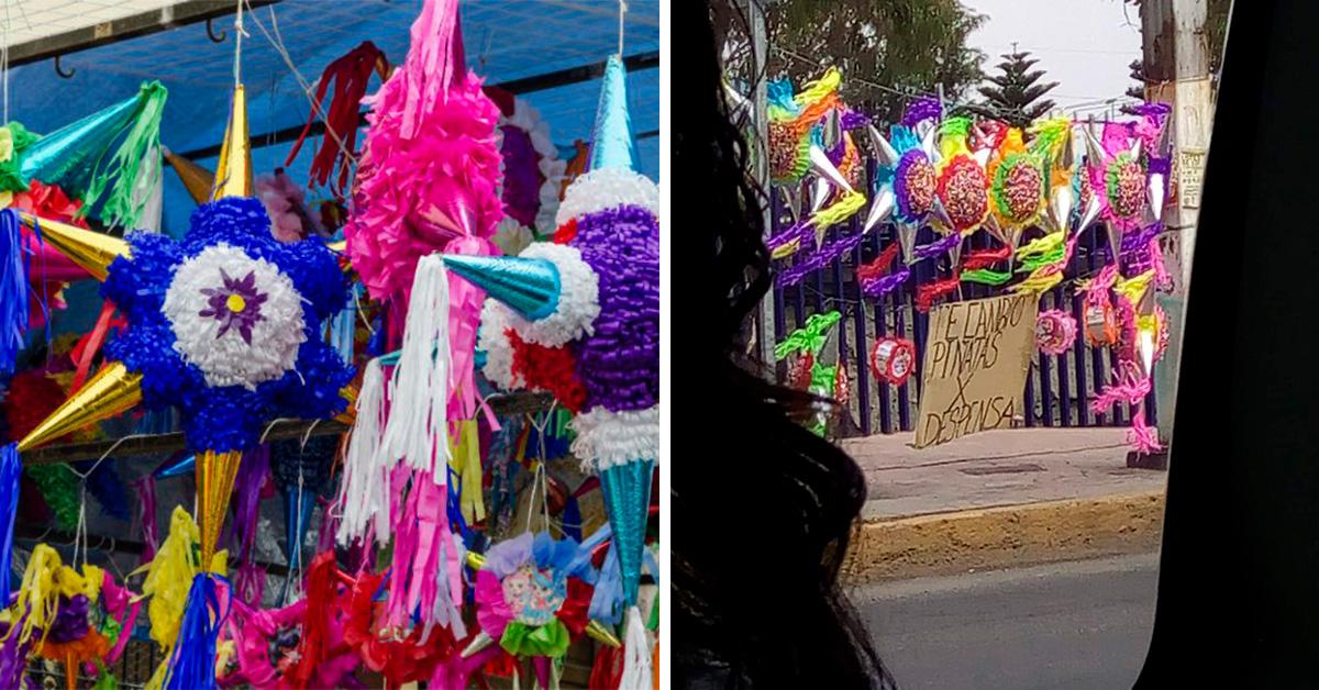 Edomex: Abuelitos cambian piñatas por despensas por pandemia