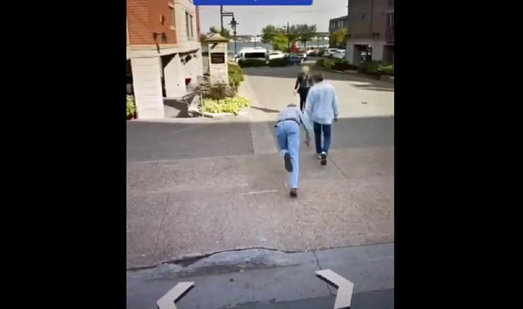 Video II Caída de un hombre a mitad de calle es captada por Google Maps