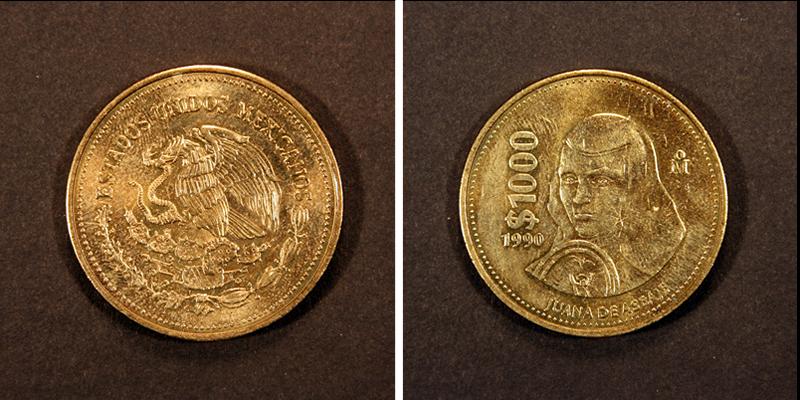 Viral: Venden moneda de Sor Juana en 20 mil pesos